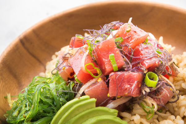 photo of poke bowl