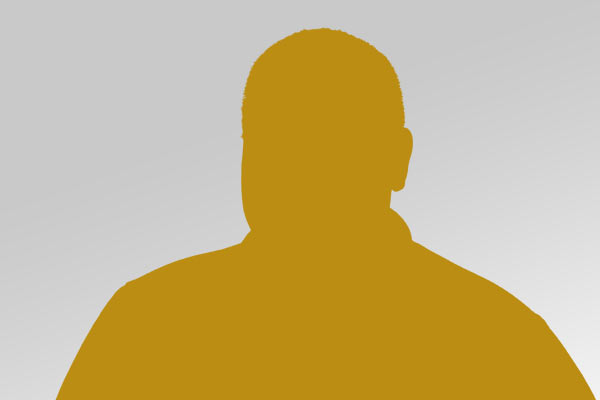 yellow silhouette of a headshot