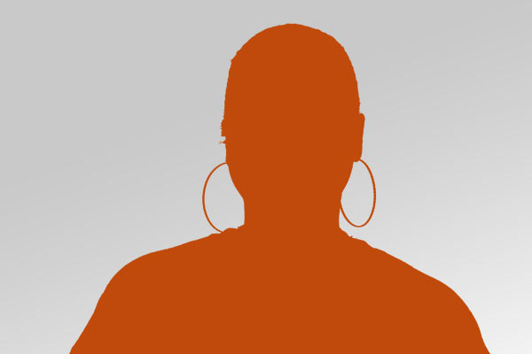 orange silhouette of a headshot