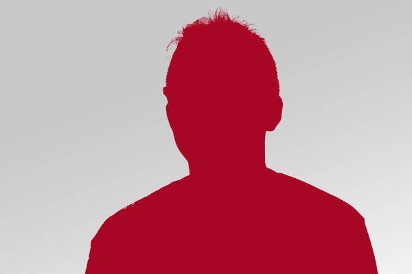 red silhouette of a headshot