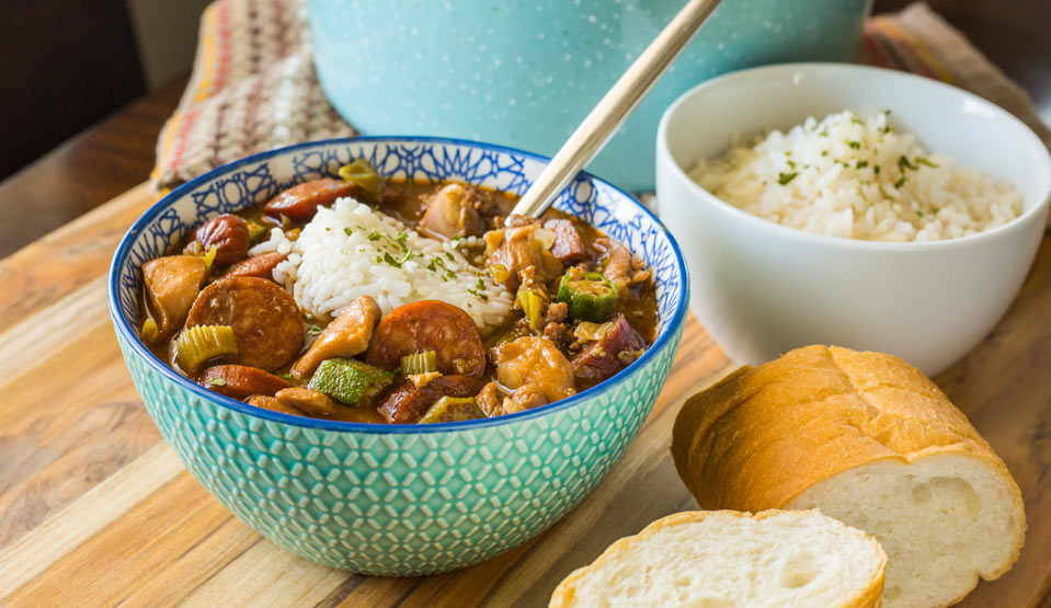 Louisiana Chicken & Sausage Gumbo