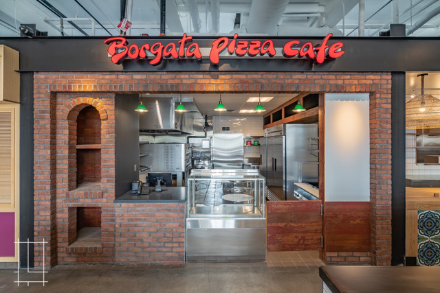 Borgata Pizza Cafe inside Budd Dairy Food Hall, Columbus, Ohio