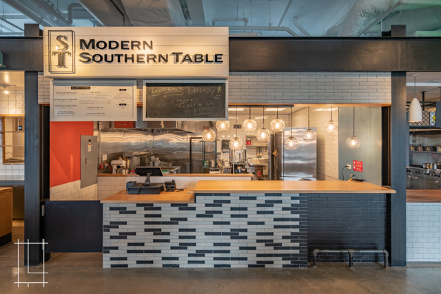 Modern Southern Table restaurant inside Budd Dairy Food Hall, Columbus, Ohio