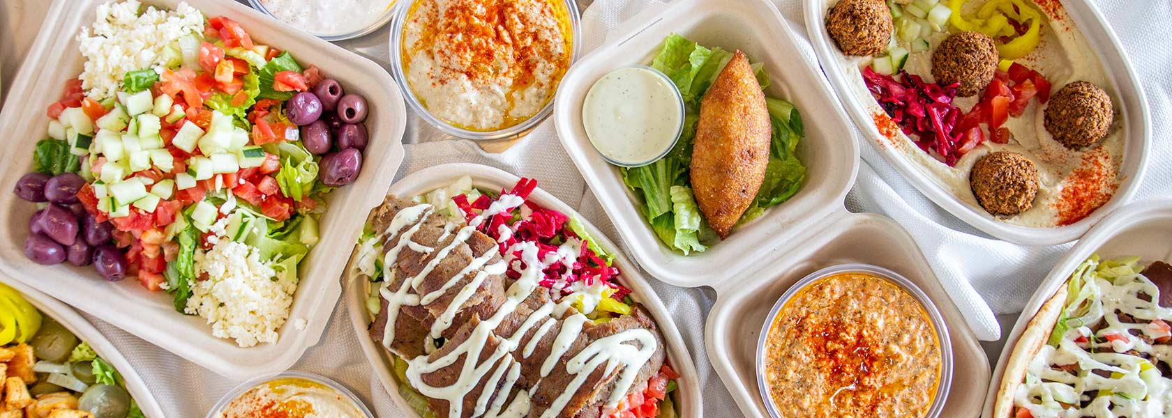 Array of Mediterranean dishes