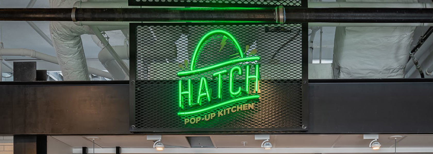 Hatch neon sign