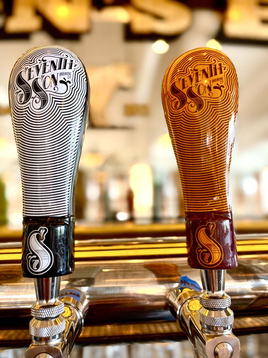 Two Seventh Son Brewery tap handles