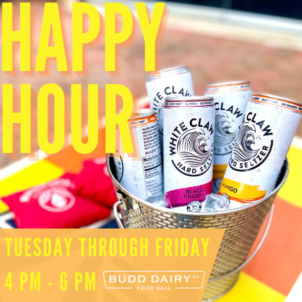 Happy Hour - Tuesday through Friday - 4 - 6 PM
