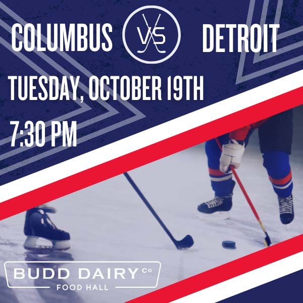 Columbus Blue Jackets vs. Detroit on Tuesday, October 19th from 7:30 - 10:30 PM