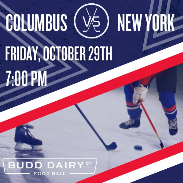 Columbus Blue Jackets vs. New York Rangers on Friday, October 29th from 7 - 10 PM