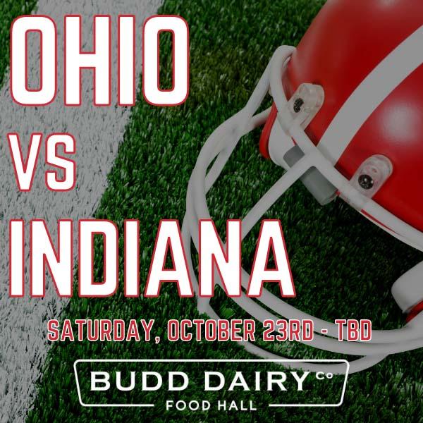 Ohio vs. Indiana on Saturday, October 23rd